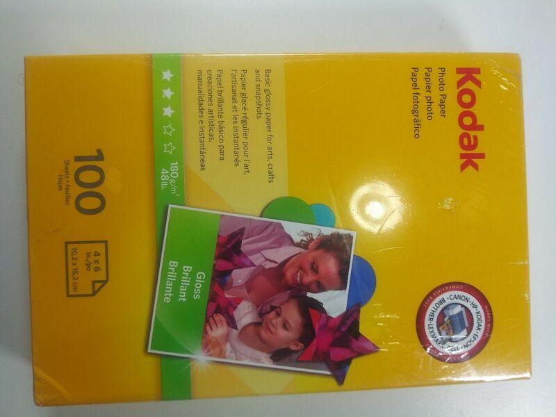 """Kodak Photo Paper Glossy 100 Sheets 4"""" X 6"""""""