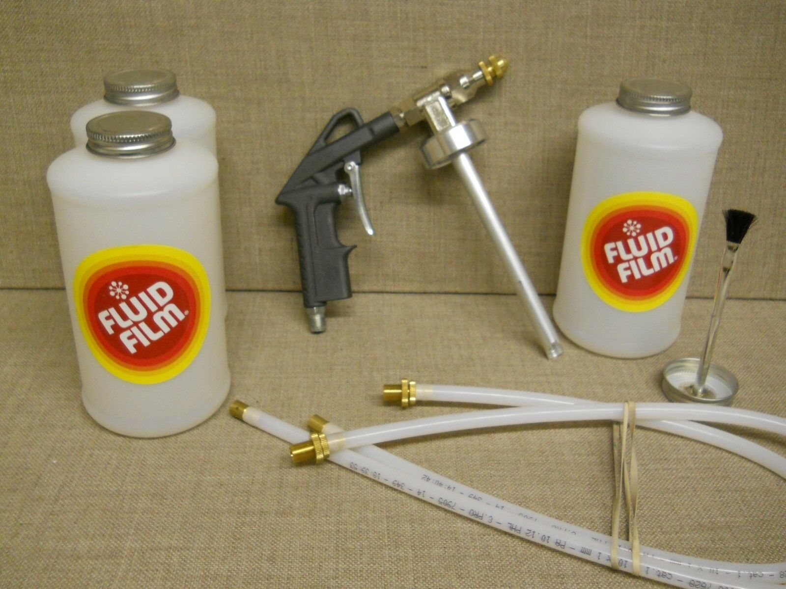 Fluid Film Quot Pro Quot Undercoating Spray Gun Kit With Wands And 100 Rust Plugs New For Sale In