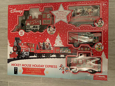 Disney Mickey Mouse Christmas Music Train Set 36 Pieces Collectors