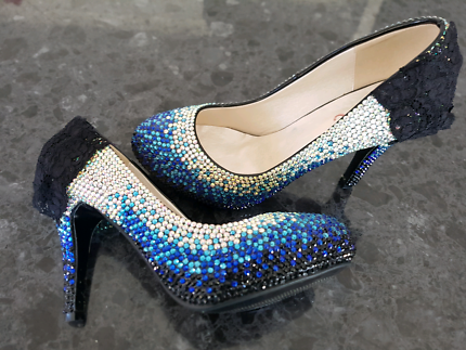 Gorgeous size 41  crystal couture shoe. Brand new.