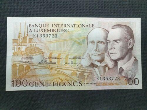 LUXEMBOURG 100 FRANCS 1981 UNC