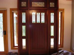 SOLID TIMBER LEAD LIGHT DOOR ENTRY AND SURROUND 1.8M X 2.6M Warrandyte Manningham Area Preview