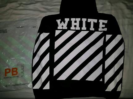 Off White Diagonal Hoodie (black)