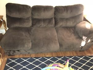 Solid wood dresser, futon, tv stand, love seat, chairs, etc
