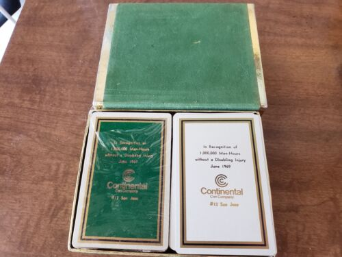 VINTAGE 1969 Continental Can Company San Jose Playing Card Set