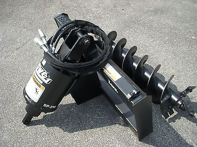 Bobcat Skid Steer Attachment - Lowe Bp210 Hex Auger With 12 Hex Bit - Ship 199