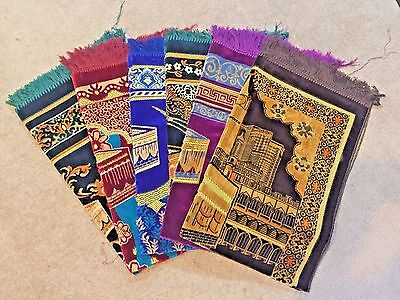 ISLAMIC PRAYER RUG with Kaba/TURKISH MAT/MUSALLAH/JANAMAZ/SEJADAH/MUSLIM GIFT