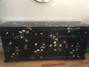 Antique side board credenza