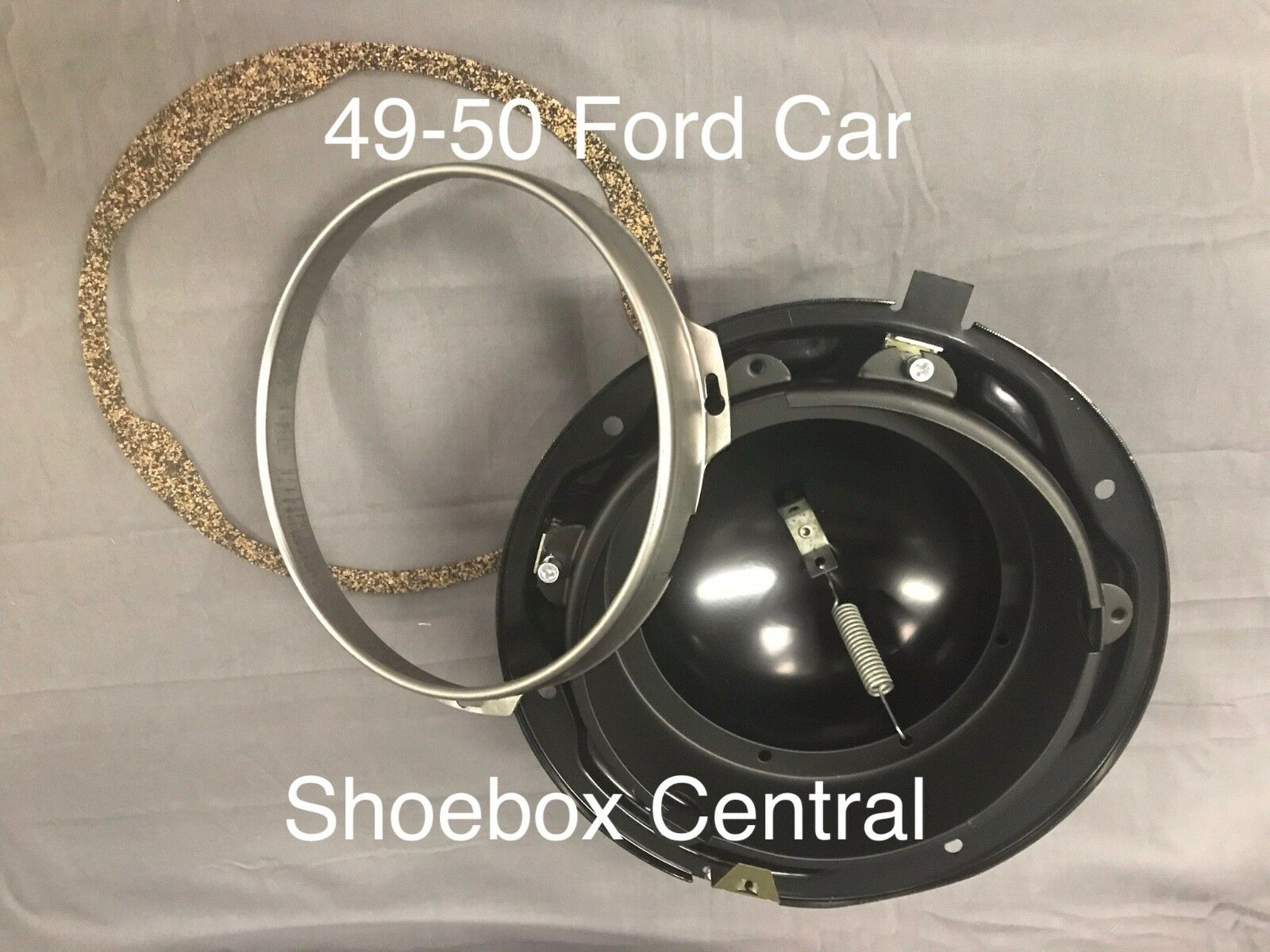 1949 1950 Ford Shoebox Headlight Bucket Kit NEW