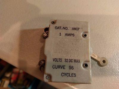 Nos Heinemann Am17 1 Amp 32 Vdc Aircraft Circuit Breaker Curve 56 Cycles