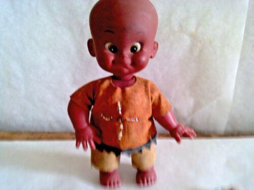 Vintage souvenir Native American Doll ,Beaded,Rare,Rubber head, unique