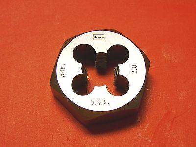 "Irwin 6952 M14 X 2.0 Metric 1.4"" Hex Rethread Die 14MM Carbon Steel USA RH"