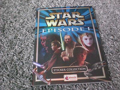 Star Wars episode 1 phantom menace Merlin Sticker Book  full set stickers