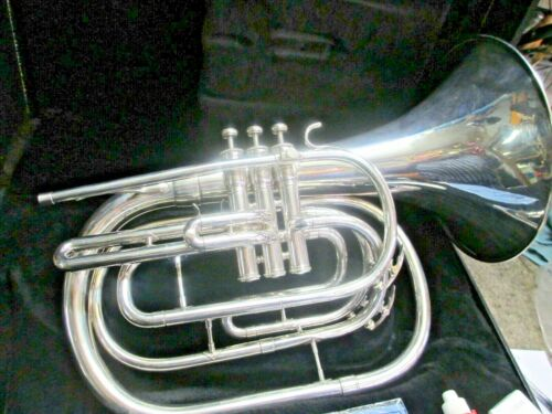 King 1122 Marching Silver Bb Marching French Horn, Ready-to-Go, New MP!