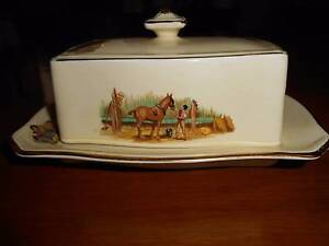 ROYAL WINTON GRIMWADES BUTTER/CHEESE PLATE WITH LID Toowoomba Toowoomba City Preview