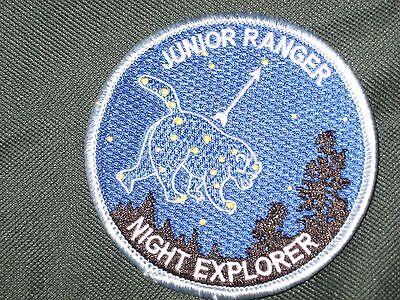 NIGHT EXPLORER RANGER JR Junior Ranger Badge PATCH  NPS RARE