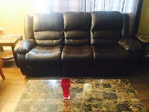 Selling dark brown reclining couch for $400! EXCELLENT condition