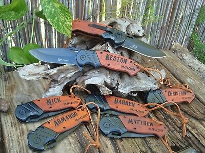 Set of (7) Personalized Engraved knives, Groomsman gift,vBest Man, Knives, 003