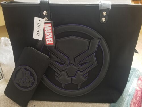 Loungefly Marvel Black Panther Canvas Tote Purse And Matchin