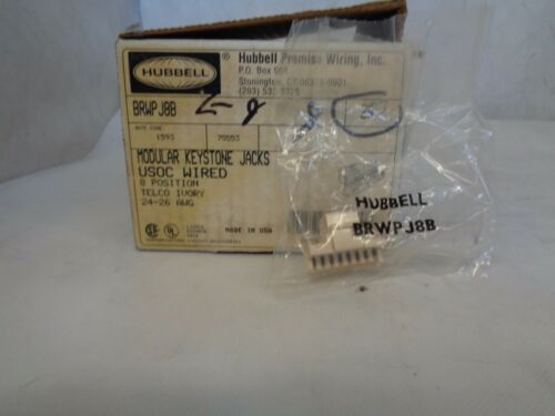 NEW HUBBELL BRWPJ8B MODULAR KEYSTONE BOX OF 23