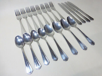 - 20 Piece Paderno Green Park 18/10 4 Setting Stainless Flatware - Cutlery