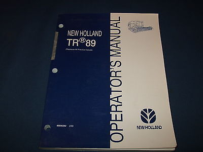 New Holland Tr89 89 Combine Operation Maintenance Manual Book