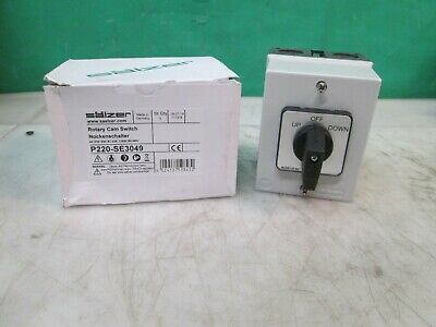 Salzer Boat Hoist Motor Rotary Cam Momentary Drum Switch Up Off Down New