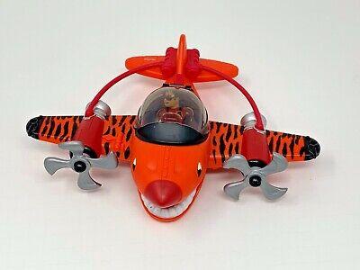 2009 Fisher-Price Imaginext Sky Racers Flying Tiger Shark Plane w/ Pilot