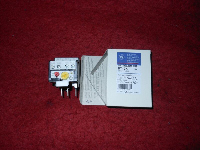 New General Electric RT12K Overload Relay