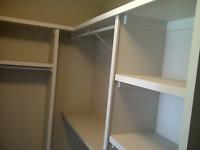 Shelf, Shelves, Shelving, Closet organizers.  Residential and C