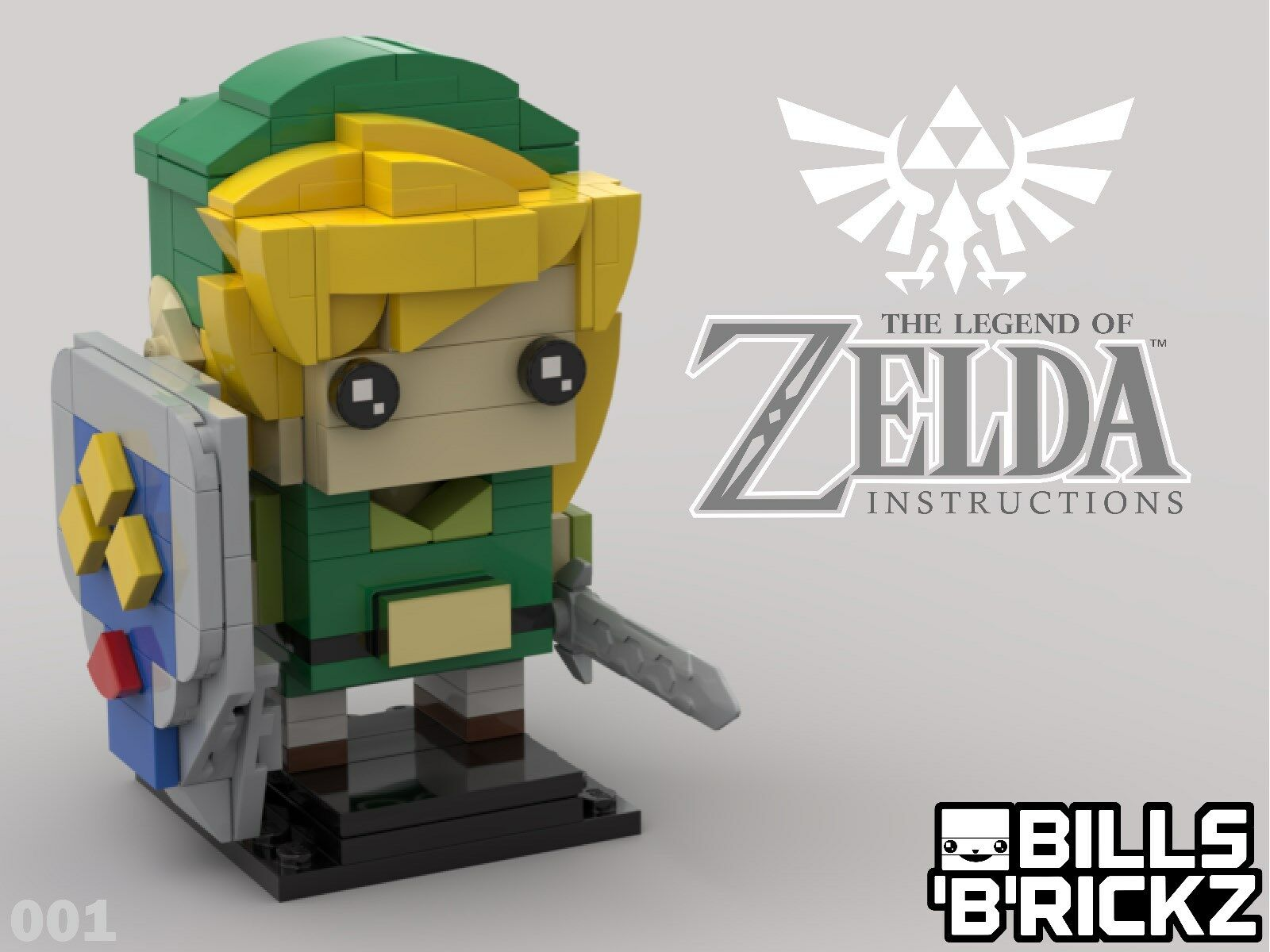 SALE** Lego MOC Brickheadz - Legend of Zelda -Link-Custom