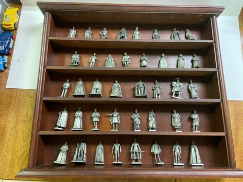 FRANKLIN MINT SET OF PEWTER KINGS, QUEENS OF ENGLAND