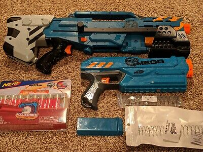 Modified Nerf Zombie Longshot And Mega Magnus Lot and worker pump kit