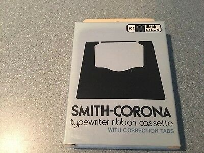 Typewriter Ribbon Rare Smith Corona 102 Black Nylon Free Sh