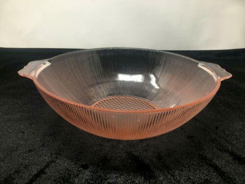 Vintage Pink Jeanette Homespun Fine Ribbed Large Berry Bowl