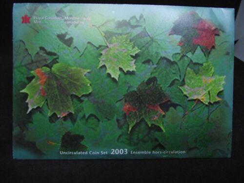 2003-P CANADA UNCIRCULATED SET, 7 Coin