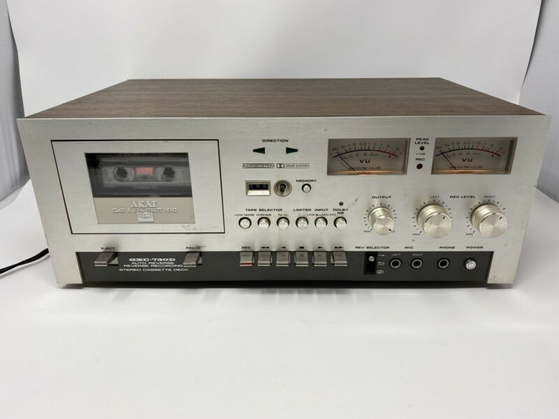 Vintage AKAI GXC-730D Stereo Cassette Deck Player Auto Reverse Tested