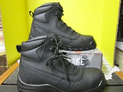Iron Age Mens Black Puncture Resistant Waterproof EH Steel Toe Boots IA5500 13 W
