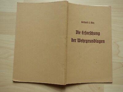 1935: Binz, Ludwig Gerhard: Die Erforschung der Wehrgrundlagen.