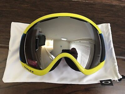 Oakley Canopy Retina Blue Prizm Black Iridium Ski Snowboard Goggles Asian Fit for sale  Sunnyvale