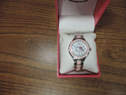 Hello Kitty Pink and stainless Wrist Watch hkaq2897