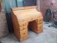 Desk roll top pine Canning Vale Canning Area Preview