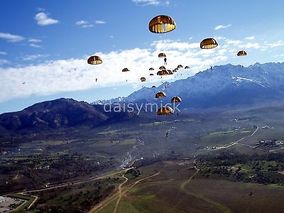 French Foreign Legion Paratroopers Corsica 2003 10x8 Inch Reprint Photo