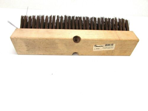 "NOS! MAGNOLIA 14"" STEEL WIRE FLOOR BRUSH BLACK CARBON STEEL 2-1/2"" BRISTLE #3814"