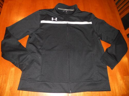 Under Armour boys warm up jacket size Y L youth large full zipper MINT cond
