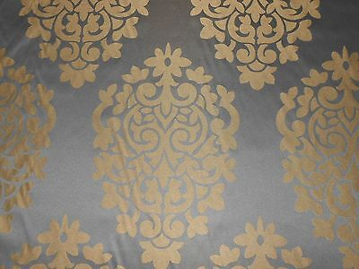 5Y upholstery drapery fabric medallions black dark olive gold classic design new