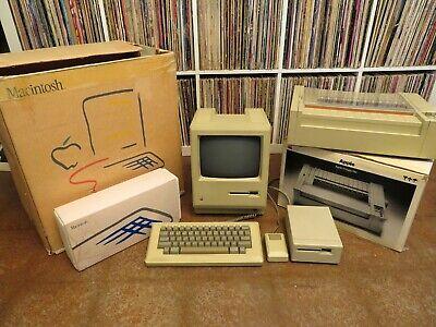 Apple Macintosh 512k, w/ Imagewriter, M0001W, M0110, M0130, M0100 AS-IS
