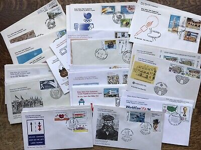 Superb Collection Of 54 Cyprus First Day Covers, See Photos