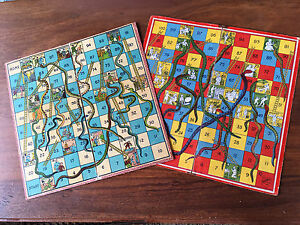 Two Australian made Victorian era snakes and ladders boards Richmond Clarence Area Preview