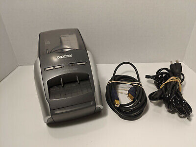 Brother Ql-570 Professional Thermal Label Printer W Power Av Cables Used Teste